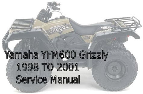 yamaha yfm600 grizzly service manual manuals