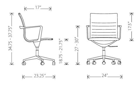 Office Chair Measurements by Desk Chair Dimensions New Desk Ideas Inside