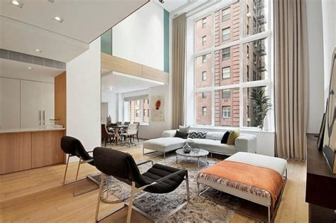 livingroom nyc modern interior design of a duplex apartment in new york