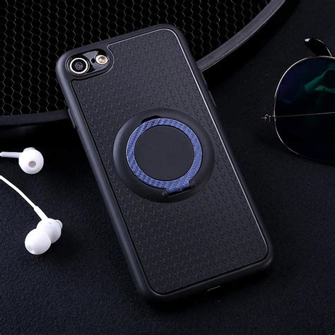 For Iphone 7 Plus With Stand Ring Soft Casing magnetic ring stand shockproof hybrid rubber cover for iphone 5 6s 7 plus 8 ebay