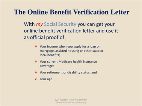 Proof Of Benefits Letter Jsa Ppt Social Security Services Powerpoint Presentation Id 5772277