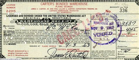 warehouse receipt template banknotes are not and never pretended to be