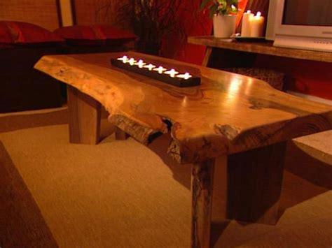 Build a Walnut Slab Coffee Table   HGTV