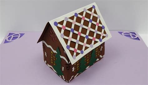 Gingerbread House Pop Up Card Template by 3d Gingerbread House Pop Up Card By