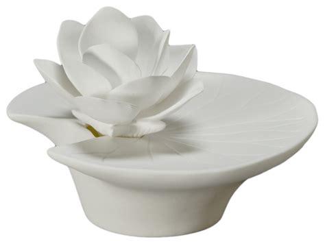 Flower Vase Lamp Lotus Flower Essential Oil Diffuser In Porcelain Asian