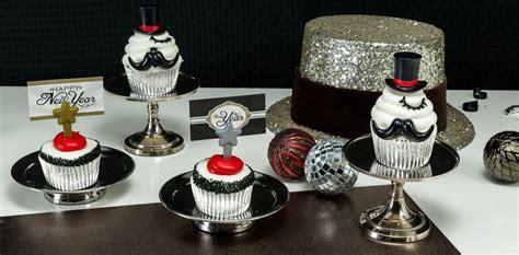 Cupcake Topper New Year Season S Greetings Bulat 5 Cm Topper Cup Cake how to make new year s mustache cupcakes cakes