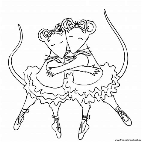 coloring pages of angelina ballerina angelina ballerina coloring pages imagui