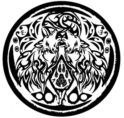 werewolf tribal tattoo werewolves and symbols tattoos on