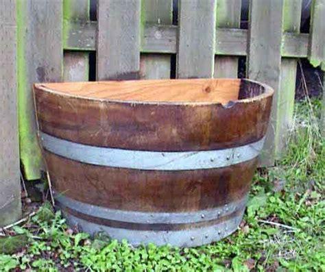 wine barrel wood planter half barrel planter adastra