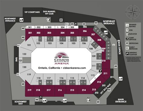 citizen bank arena seating chart seating charts citizens business bank arena