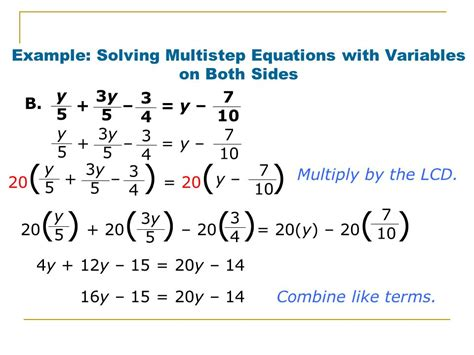 Equations With Variables On Both Sides Worksheet by 28 Multi Step Equations Worksheets With Variables On