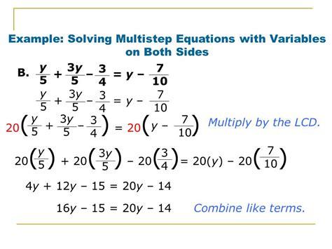 Multi Step Equations Worksheet Variables On Both Sides by 28 Multi Step Equations Worksheets With Variables On