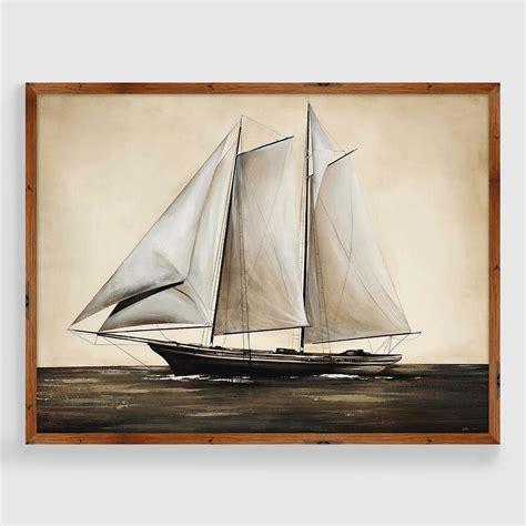 sailboat prints vintage sailboat framed print world market