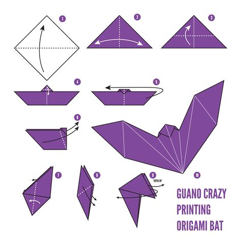 origami bat how to fold an origami bat guano printing