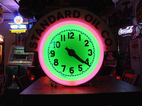 what were beer neon colors in the 50s and 60s standard theme electric neon clock company two colors 1950 s collectors weekly