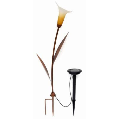 trendscape solar lights trendscape calla lilly bronze solar led path light gx 2473