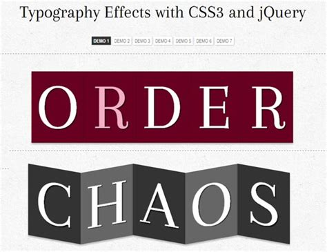 css3 typography 34 fresh css3 and jquery tutorials jquery graphic design junction