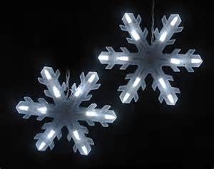 3 white led 3d snowflake icicle christmas lights wh wre ebay
