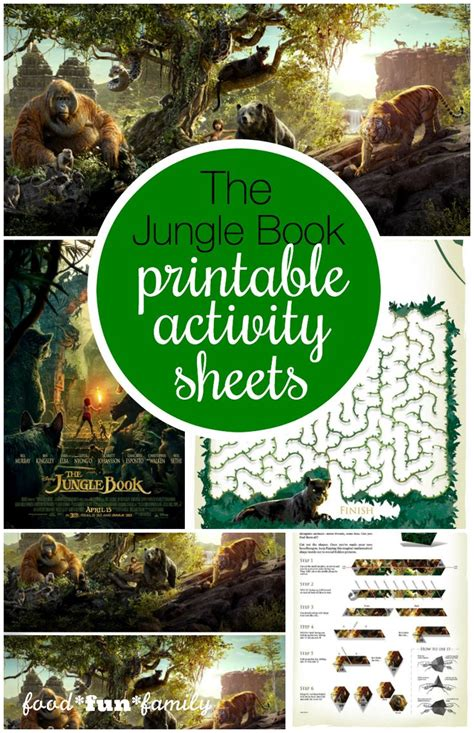 jungle book themes analysis disney s the jungle book activity sheets maze