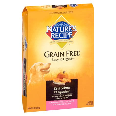 salmon puppy food nature s recipe grain free salmon sweet potato pumpkin food petco