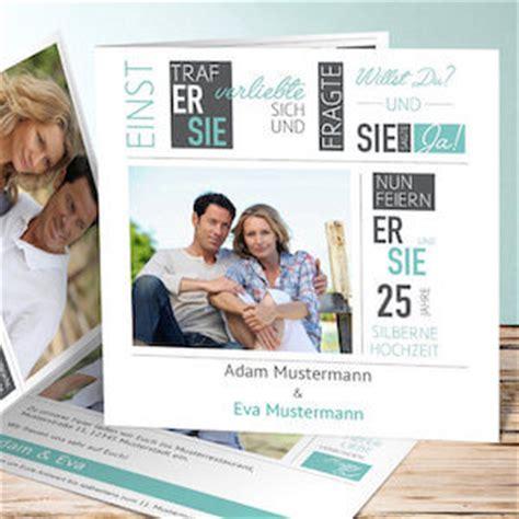 Einladung Silberhochzeit Modern by Die Einladung Zur Silberhochzeit Einladungskarten Und Texte
