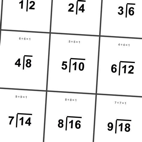 multiplication math flash cards 1x 12x instant