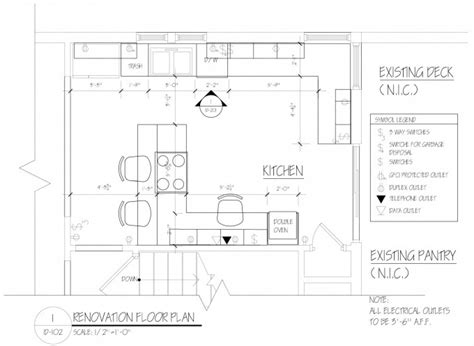 draw kitchen floor plan kitchen drawings plan flatblack co