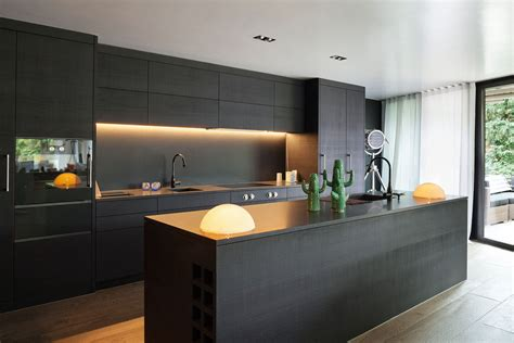 Modern Classic Kitchen Cabinets - beautiful kitchens black kitchen interior with a touch of nature