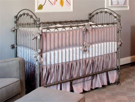Silk Crib Bedding by Silk Lavender Crib Bedding Set Crown Interiors