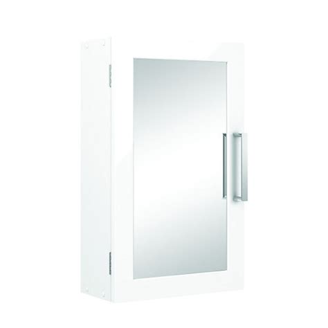 Wickes Bathroom Single Mirror Cabinet White 300mm Wickes Co Uk