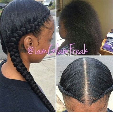 unique two big braids hairstyles with weave big box braids beautiful beautiful braids and braids on pinterest