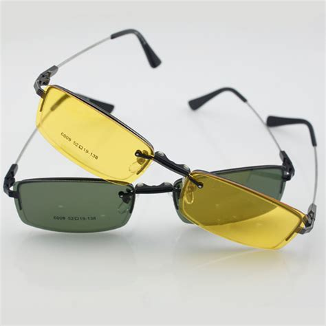 s glasses frame 2pcs magnetic clip on sunglasses all time driving polarized 2pcs clip on sunglasses half