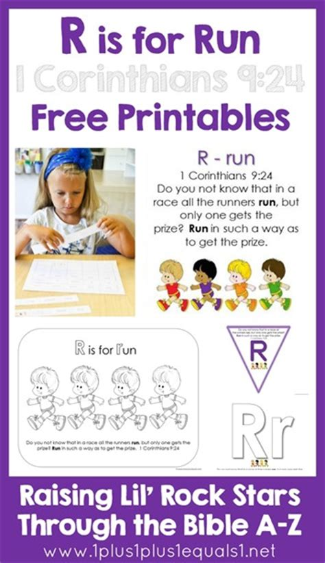Bible Character With Letter K Bible Verse Printables Letter R 1 1 1 1