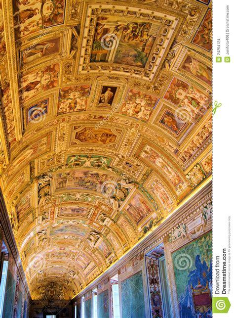 vatican art stock photo image  gallery chapel detail