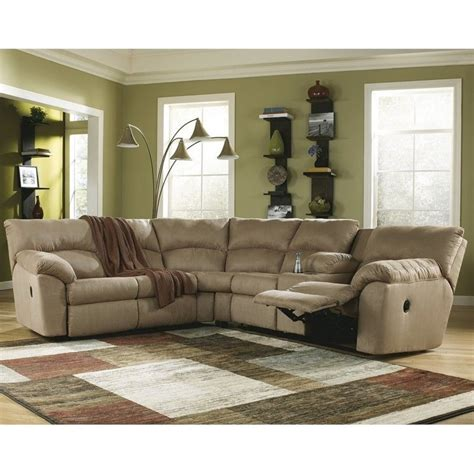 Ashley Furniture 2 Piece Fabric Reclining Sectional