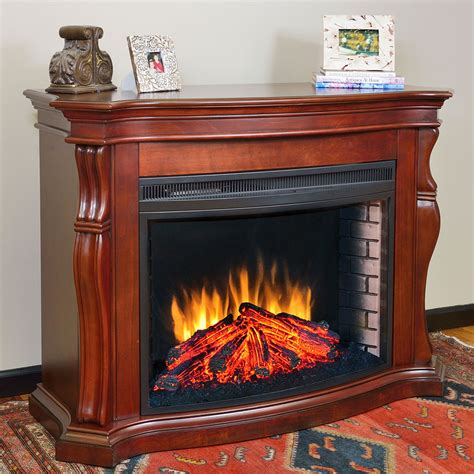 Tuscan Fireplace Mantels by Muskoka Tuscan Burnished Cherry Electric Fireplace Package