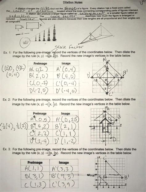 transformation geometry worksheets doc geometry