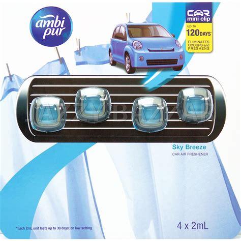 Ambipur Mini Sky ambi pur car air freshener mini clip air freshner sky 4 x 2ml bulk pack ebay