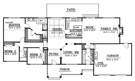 100 sq ft house plans ranch style house plan 3 beds 2 baths 2251 sq ft plan 100 405