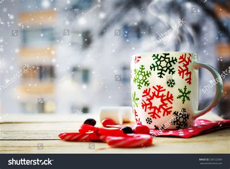 Hot Coffee Cup On Frosty Winter Stock Photo 230122309   Shutterstock