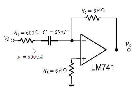 integrator and differentiator circuits using op s op analysis differentiator and integrator