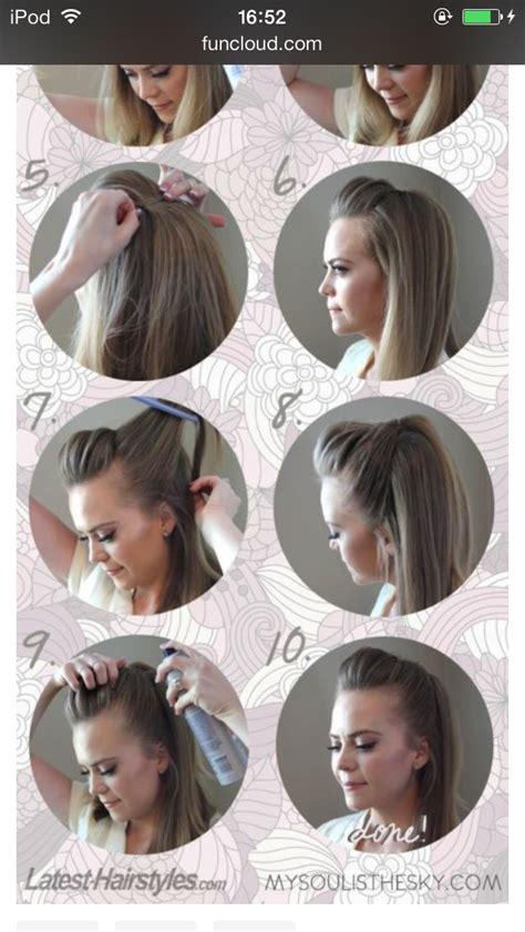half up half down quiff hairstyles half up half down quiff trusper