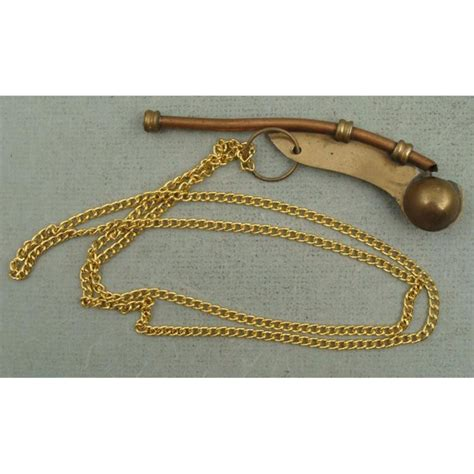 boatswain in ship wwii boatswain call pipe naval ship whistle brass