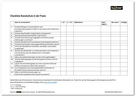 Dienstreiseantrag Vorlage checkliste brandschutz in der praxis praxisbedarf shop