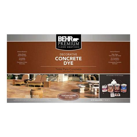 home depot tuscan paint colors behr premium tuscan concrete dye kit 86036 the