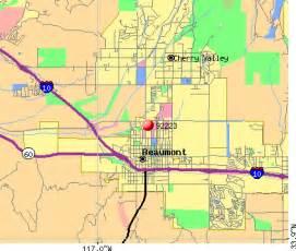 beaumont zip code map 92223 zip code beaumont california profile homes