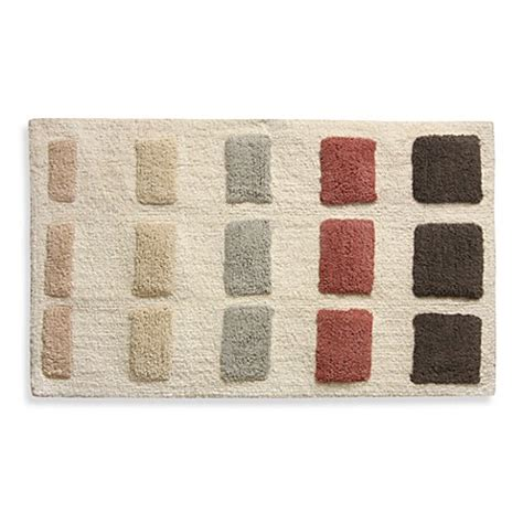 Geometric Bath Rug Blush Geometric Shapes Bath Rug Bed Bath Beyond