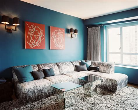 blue walls living room living rooms with blue walls rumah minimalis