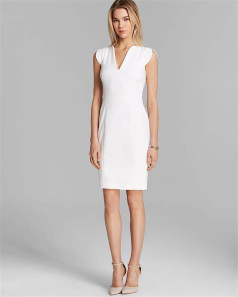 Dress Stretch connection dress stretch classics in white lyst