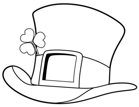 leprechaun hat coloring page st patrick day top hat coloring page free printable